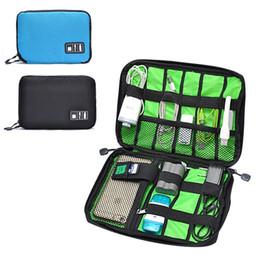 Box Jewelry Storage Organizer Black Australia - Cable Storage Box Portable electronic Organizer Gadget electronic Travel bag USB Earphone 22x3.6x15.7cm cp0966