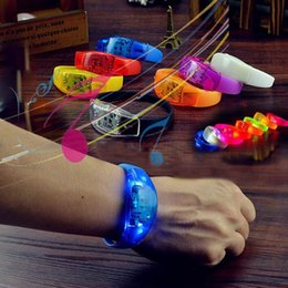 glow party decorations Australia - 100pcs Voice Control LED Bracelet Sound Activated Glow Bracelet for Party Clubs Concerts Dancing Prom Decoration ZA1834 20180510#