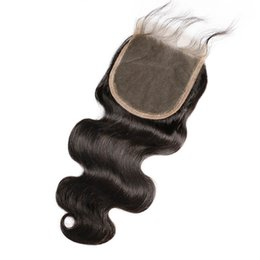 brazilian virgin hair texture UK - Lace Closure 5*5 Body wave Texture Bleached Knots Brazilian Virgin Human Hair Accessions With Baby Hair left three part of Qtfn