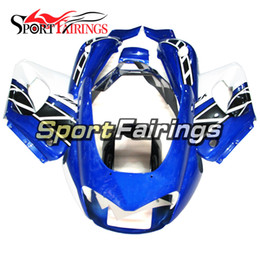 China Blue White Full Fairings For Yamaha YZF1000R Thunderace 1997 - 2007 97 - 07 Complete Motorcycle Kit ABS Fairing Plastic Bodywork cheap white abs thunderace suppliers