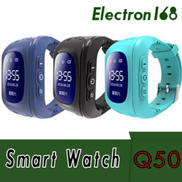quad band smart watch NZ - 2018 Q50 Kids GPS Tracker Children Smart Phone Watch SIM Quad Band GSM Safe SOS Call For Android IOS Smart Watch Sim Card