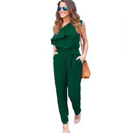 jumpsuits UK - Sexy Rompers Women Jumpsuit Off Shoulder Slash Neck 2017 Spring Female Brand Clothing High Quality