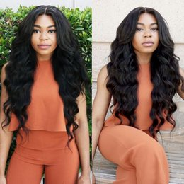 "mongolian human hair inch 2019 - Mongolian Body Wave virgin human hair 3 Bundles 100% Unprocessed Remy Hair Extensions 8""-26"" Natural Black Fre"