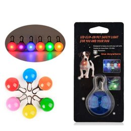 Wholesale Pet Led Light Dog Cat Waterproof Dog Illuminated Collar Safety Night Walking Lights ID Tags Pet Dog Pendants Flashing Led Collar mk596