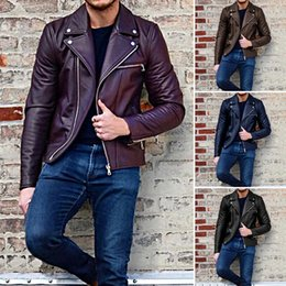 NIBESSER 3XL Plus Size Slim Fit homens Moto Jaqueta de Motoqueiro Jaqueta De Couro Bomber Jacket Mens Inverno Turn Down Collar Zipper Outerwear em Promoção