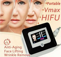 Wholesale 2018 Newest Hifu Face Lift High Intensity Focused Ultrasound Anti Aging Wrinkle Removal Vmax Hifu Machine With Cartridges