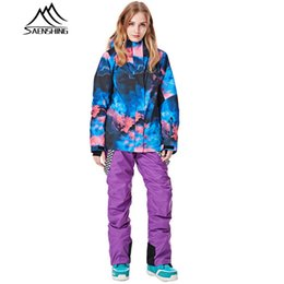 woman s ski suit Australia - Snowboarding Suits Women Winter Ski Suit Waterproof Thermal Snowboard Jacket Ski Pants Breathable Snow Suit Outdoor female