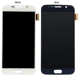 Cell Phone Display Repair Canada - Original 100% Tested For Samsung Galaxy S6 G920 G920F G920i G920A Touch Screen Digitizer LCD Display Assembly 5.1inch Cell Phone Repair Part