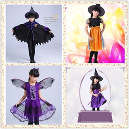 $enCountryForm.capitalKeyWord Canada - Baby Kids Witch Halloween Cloak Hat Costumes Toddlers Cape Cosplay Role Play Dress UpWSJ-03