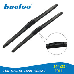 "toyota land cruiser accessories 2019 - 2PCS Windshield Wiper Blades For Toyota Land Cruiser 2011 Year 24""+22"" Rubber Windscreen Wipers Auto Parts Car"
