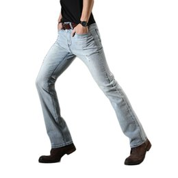 7170990f7ca jeans pant cut for men 2019 - Boot Cut Jeans for Man Light Blue Ripped Flare