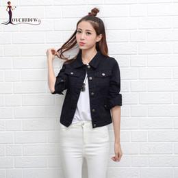 $enCountryForm.capitalKeyWord Canada - Spring Autumn Cowboy Motorcycle Women Short Jacket 2018 Fashion Korean Female Jacket Hole Slim Solid Color Women Coat Tops XY515