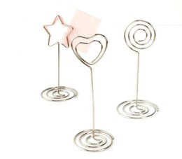 name place card holders 2019 - Place Card Holder Wedding Place Card Table Number Holder Photo Memo Holder Number Name Clips Base cheap name place card