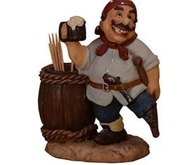 TooThpicks holder online shopping - Creative Home Decor Pirate Portable Toothpick Holder Carton