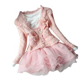 EuropEan childrEn s clothing online shopping - 2019 New Autumn Winter Girl Dress Floral Children s Dress Kids Dresses For Girls Pc set Coat Dress Toddler Girl Clothes