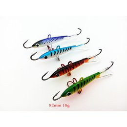 $enCountryForm.capitalKeyWord Canada - artificial 4pcs lot Fishing Lure Winter Ice Fishing Hard Minnow Pesca Tackle Isca Artificial Bait Crankbait Swimbait 82mm 18g