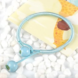 Dark Pink Bracelet NZ - Women And Girls Allergy Free 1PC Pink Boho Style Handmade Sky Blue 2018 New Arrival Adjustable Dark Blue