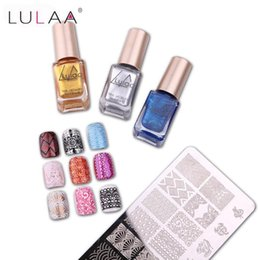 stamping nail art polish color NZ - DHL free New Fashion Special LULAA Nail Polish 12 Color optional For Nails Art Stamping Print 6ML