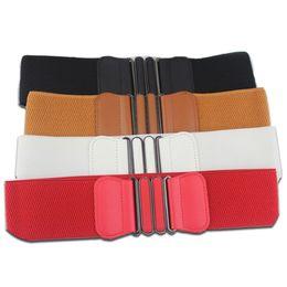 $enCountryForm.capitalKeyWord UK - Women's Waistband Elastic Wide Belt Fashion Womens Waist Belts Lady Solid Stretch Elastic Dress Adornment For women Waistbands