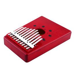 $enCountryForm.capitalKeyWord Canada - 1pcs Red 10Keys Kalimba Thumb Piano Traditional Musical Instrument Portable Great Gift Drop Shipping