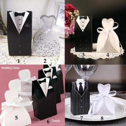 China Wedding Candy Box New fashion Creative candy bag with Suit design Favor Event Gift Party Candy Bags free shipping cheap wedding candy wrap free suppliers