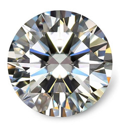 0.1Ct~8.0Ct(3.0MM~13.0MM) D F Color VVS Round Brilliant Cut Lab Certified Diamond Moissanite With A Certificate Test Positive Loose Diamond on Sale