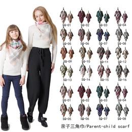 Camouflage shawls online shopping - Trangle Plaid Scarf Women Winter Cashmere Shawl big grid towel Pashmina Scarves lattices Cape wraps Triangular Shawls for Christmas Gift new