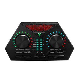 Externe USB-Soundkarte Headset Gesangsmikrofon Live-Broadcast für Handy Computer PC