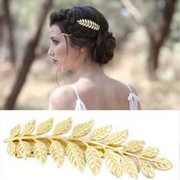 $enCountryForm.capitalKeyWord NZ - Hot sale Leaf hairpin insert comb spring clip bangs clips or barrettes for ladies free shipping