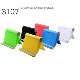 Tablet Music Stand Australia - New S107 Mobile Phone Tablet Lounger Universal Folding Stand Watch Movie Portable Music Stand Angle adjustable Cell Phone Mounts & Holders