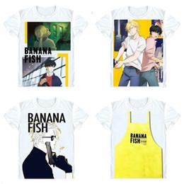 Manga T Shirts Canada - BANANA FISH T-Shirts Short Sleeve Shirts Anime Manga Ash Lynx Eiji Okumura Shunichi Ibe Max Lobo Frederick Arthur Cosplay Shirt