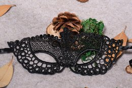 $enCountryForm.capitalKeyWord Australia - New Sexy hollow black lace half face masks for women lady girl Masquerade Christmas ball Halloween Costume Party bar cover