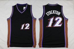 ee1599cc4910 2018 Hot Superior Quality Men s Basketball Jersey 12 John Stockton Shirt  Mens Jerseys S M L XL Basketball Jerseys free shipping