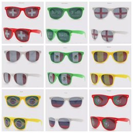 Wholesale World Cup Football Festival Fans Sunglasses For National Flag Bar Party Fans Sunglasses Athletic Outdoor Eyewear Sticker Glasses D0270
