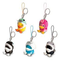 Discount cartoon toy photos - Creative Yellow Duck Keychain Animal Series Rubber Ducky Key Ring Toys Doll Gift For Woman Man Gifts Free Shipping