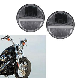 Motobike Kits Australia - Motobike headlight 7inch round led high  low beam Headlight DRL turn signal for Harley Davidson Motorcycle for Jeep Wrangler JK