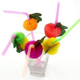 Event & Party Reasonable 50pcs 3d Plastic Fruit Shape Cocktail Drinking Straw Party Theme Decoration Color Random Elegant Appearance Home & Garden