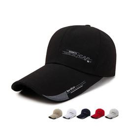 646369fa696 2018 Sports Cap Mens Hat For Fish Outdoor Fashion Line Baseball Cap Long  Visor Brim Shade Snapback Sun Hat Bone Gorras