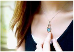 $enCountryForm.capitalKeyWord Australia - Korean creative crystal pendant wish vase bottle necklace jewelry accessories necklace