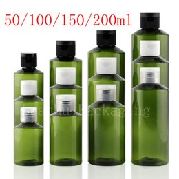 $enCountryForm.capitalKeyWord NZ - Green Empty Cosmetic Bottles Screw Caps, Refillable Liquid Plastic Container For Shampoo Lotion Flower Water Travel Size