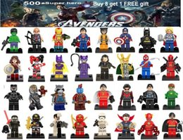 Mini Figures Superman UK - Avengers super hero mini figures kids corner productions blocks Batman Logan Thor superman Hulk Building Blocks Sets Kids toy Bricks gifts