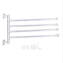 China Stainless Steel Towel Bar Rotating Towel Rack Bathroom Kitchen Wall-mounted Towel Polished Rack Holder Hardware Accessory cheap kitchen hardware accessories suppliers