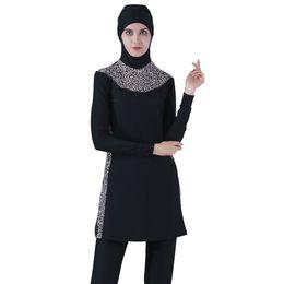 489466697d Fully Covered Modest Muslim Swimwear Women s Islamic Swimsuit hijab Burkinis  musulman Beach swimming Plus Size