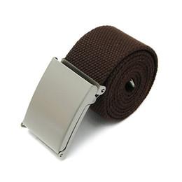 $enCountryForm.capitalKeyWord Australia - Bluelans Candy Colors Men Women Boys Plain Webbing Cotton Canvas Metal Buckle Belt Fashion Accessories
