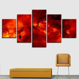 $enCountryForm.capitalKeyWord Australia - Living Room Wall Art 5 Pieces Fire Magma Abstract Painting Modular Canvas Poster Home Decoration Framework Modern Print Pictures