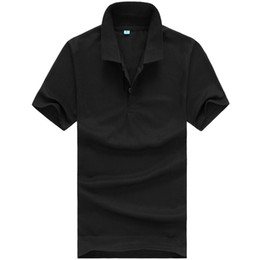 high quality polo shirts men Canada - High Quality Tops&Tees New Men Polo Shirt Men Business Casual Solid Male Polo Shirt Short Sleeve Breathable Sports Polo Shirt