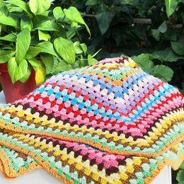 $enCountryForm.capitalKeyWord Canada - Free Shipping 110*110cm Vintage Handmade Crochet Granny Square Blanket . . Shawl Scarf