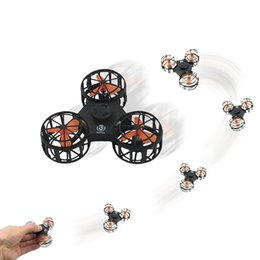 Flying spinner toy online shopping - Flying Fidget Spinner Mini Rechargeable Automatic Rotatable Finger Spinner Novelty toy For Autism Anxiety Stress ReleaseToy GGA114