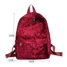 Back Packing Bags Canada - Red Backpacks Women Soft Velour Travel Rucksacks Female Casual Back Pack For Teenage Girls School Bag 2018 Female Back Pack
