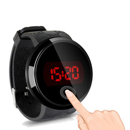 $enCountryForm.capitalKeyWord UK - Table Round Touch Screen LED Electronic Watch Fashion Student Jelly Table Men and Women Couples Boy Sports Watch Free Shipping